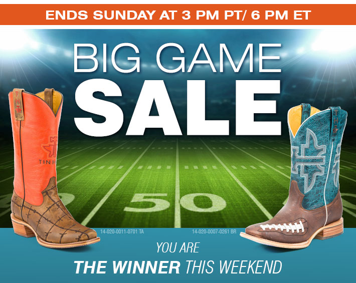 BIG GAME SALE - Save In-Store andOnline With Code BIGGAME.