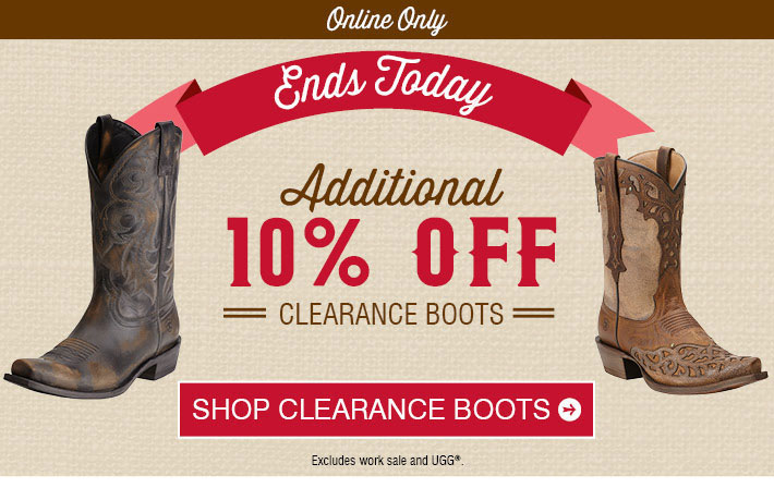 Boot Barn Coupons: Last Day - Save Up To 60% On Clearance
