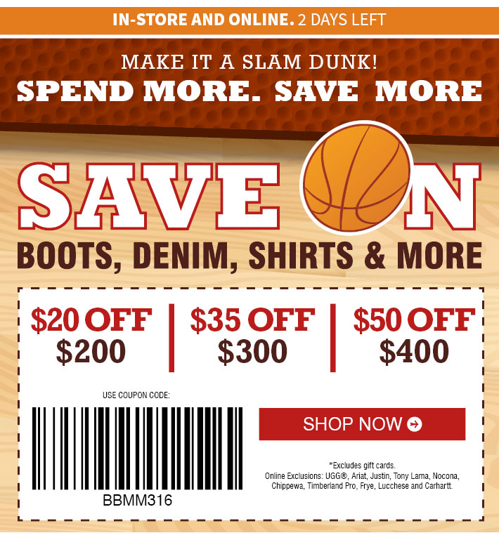 Boot barn coupon codes