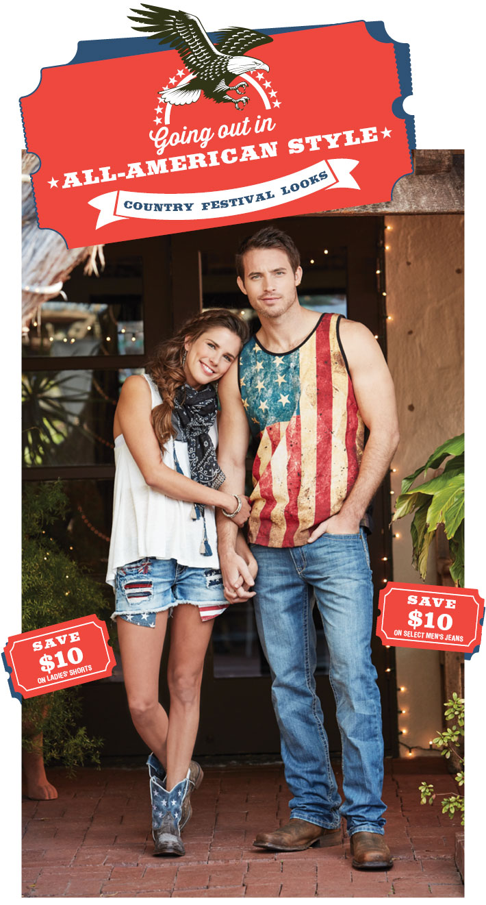 ALL AMERICAN STYLE - Country Festival Looks For Men & Women »