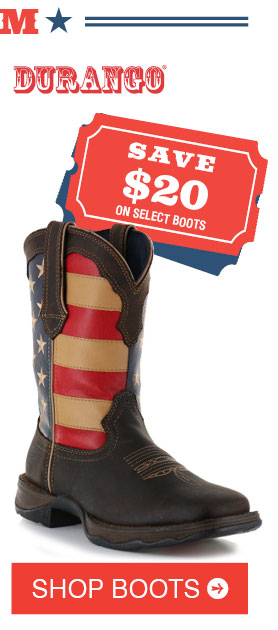 Save $20 On Select Men's Boots »