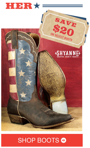 Save $20 On Select Women's Boots »
