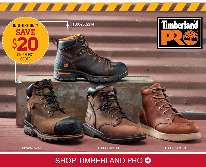Save $20 On SelectTimberland Pro Boots »