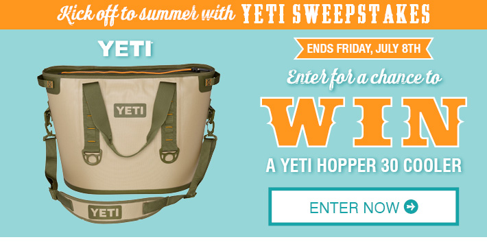 Enter To Win A Yeti Hopper 30 Cooler »