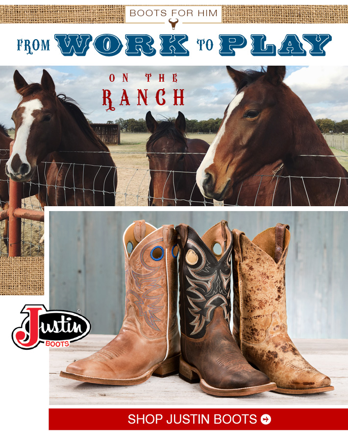 ON THE RANCH - Shop Men's Justin Boots »