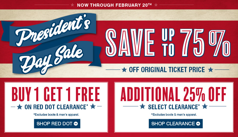 Shop President's Day Sale »