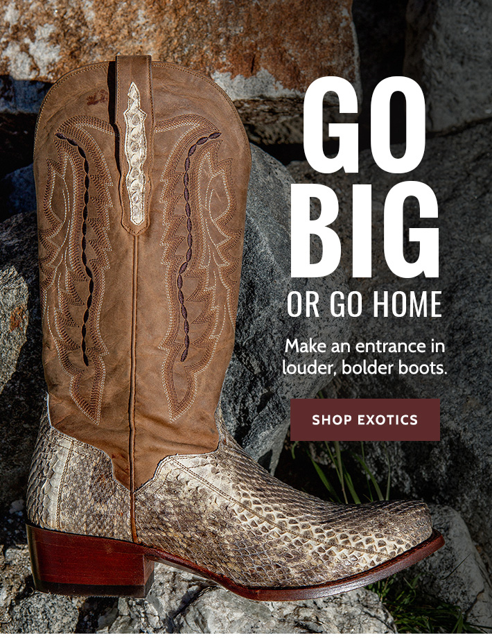 b2d3a57f05f Boot Barn - Louder, Bolder Exotic Boots